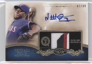 2012 Topps Tier One Top Shelf Autographed Relics [Autographed] #TSAR-NF - Neftali Feliz /99