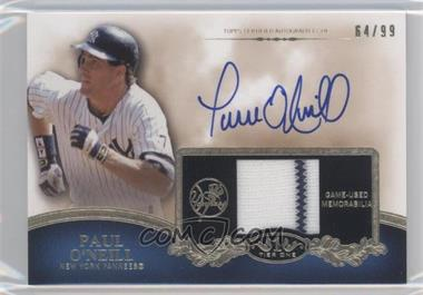2012 Topps Tier One Top Shelf Autographed Relics [Autographed] #TSAR-PO - Paul O'Neill /99