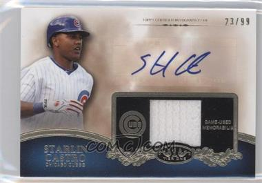 2012 Topps Tier One Top Shelf Autographed Relics [Autographed] #TSAR-SC - Starlin Castro /99
