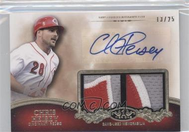 2012 Topps Tier One Top Shelf Autographed Relics Dual [Autographed] #TSDAR-CH - Chris Heisey /25