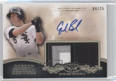 2012 Topps Tier One Top Shelf Autographed Relics Dual [Autographed] #TSDAR-GB - Gordon Beckham /25