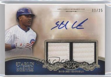 2012 Topps Tier One Top Shelf Autographed Relics Dual [Autographed] #TSDAR-SC - Starlin Castro /25