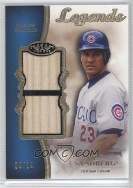 2012 Topps Tier One Top Shelf Legends Relics Dual #TSDL-RS - Ryne Sandberg /15