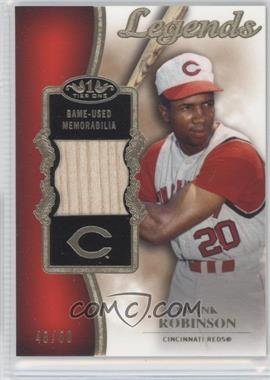 2012 Topps Tier One Top Shelf Legends Relics #TSL-FR - Frank Robinson /50
