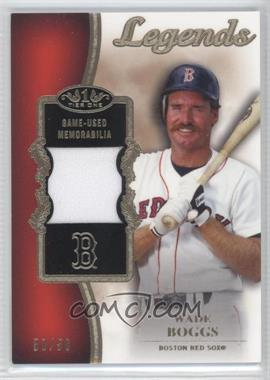 2012 Topps Tier One Top Shelf Legends Relics #TSL-WB - Wade Boggs /50