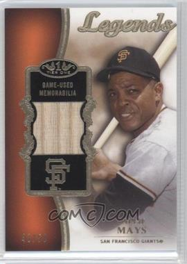 2012 Topps Tier One Top Shelf Legends Relics #TSL-WMA - Willie Mays /50