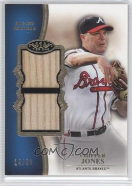 2012 Topps Tier One Top Shelf Relics Dual #TSDR-CJ - Chipper Jones /50