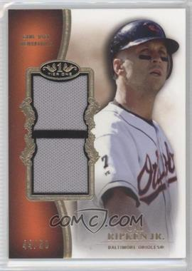 2012 Topps Tier One Top Shelf Relics Dual #TSDR-CR - Cal Ripken Jr. /50