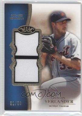 2012 Topps Tier One Top Shelf Relics Dual #TSDR-JV - Justin Verlander /50