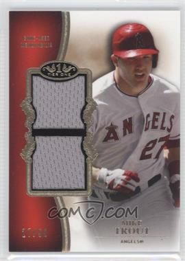 2012 Topps Tier One Top Shelf Relics Dual #TSDR-MTR - Mike Trout /50