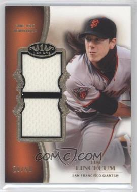2012 Topps Tier One Top Shelf Relics Dual #TSDR-TL - Tim Lincecum /50