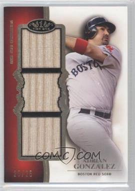 2012 Topps Tier One Top Shelf Relics Triple #TSTR-AG - Adrian Gonzalez /25