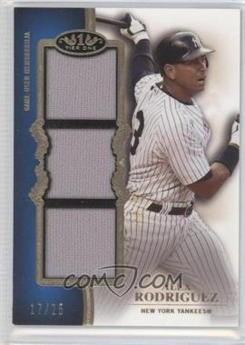 2012 Topps Tier One Top Shelf Relics Triple #TSTR-AR - Alex Rodriguez /25