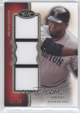 2012 Topps Tier One Top Shelf Relics Triple #TSTR-DO - David Ortiz /25