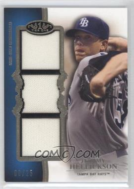 2012 Topps Tier One Top Shelf Relics Triple #TSTR-JHE - Jeremy Hellickson /25