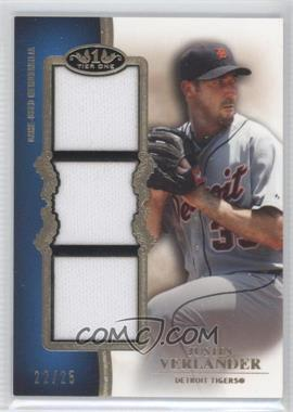 2012 Topps Tier One Top Shelf Relics Triple #TSTR-JV - Justin Verlander /25