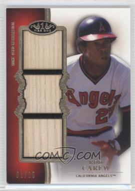 2012 Topps Tier One Top Shelf Relics Triple #TSTR-RCW - Rod Carew /25