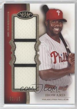 2012 Topps Tier One Top Shelf Relics Triple #TSTR-RH - Ryan Howard /25