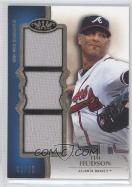 2012 Topps Tier One Top Shelf Relics Triple #TSTR-THU - Tim Hudson /25