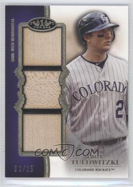 2012 Topps Tier One Top Shelf Relics Triple #TSTR-TT - Troy Tulowitzki /25