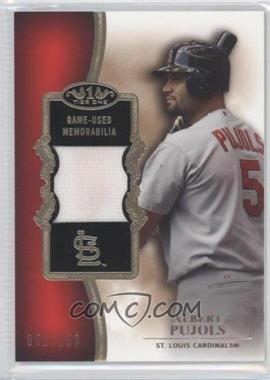 2012 Topps Tier One Top Shelf Relics #TSR-AP - Albert Pujols /150