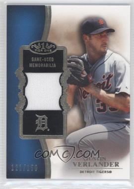 2012 Topps Tier One Top Shelf Relics #TSR-JV - Justin Verlander /150