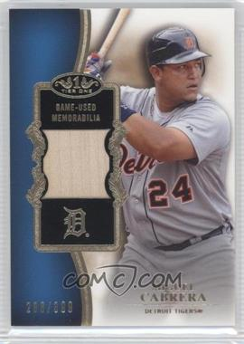 2012 Topps Tier One Top Shelf Relics #TSR-MC - Miguel Cabrera /399