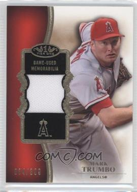 2012 Topps Tier One Top Shelf Relics #TSR-MT - Mark Trumbo /399