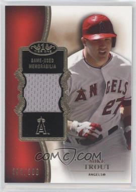 2012 Topps Tier One Top Shelf Relics #TSR-MTR - Mike Trout /399