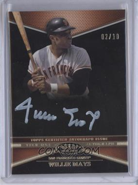2012 Topps Tier One Top Tier Autograph Silver Ink #TTA-WM - Willie Mays /10