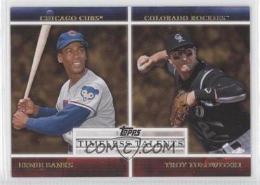2012 Topps Timeless Talents #TT-20 - Troy Tulowitzki, Ernie Banks