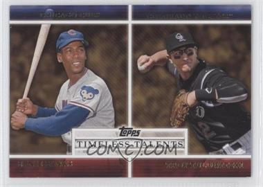 2012 Topps Timeless Talents #TT-20 - Troy Tulowitzki, Ernie Banks