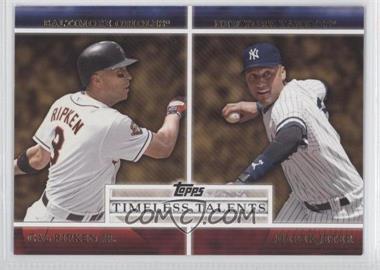 2012 Topps Timeless Talents #TT-25 - Cal Ripken Jr., Derek Jeter