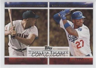 2012 Topps Timeless Talents #TT-4 - Willie Mays, Matt Kemp