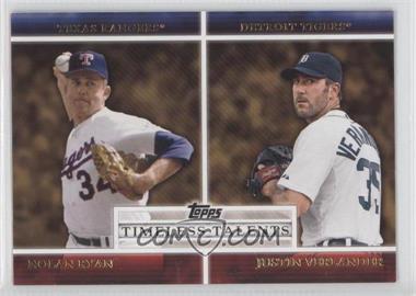 2012 Topps Timeless Talents #TT-5 - Nolan Ryan, Justin Verlander