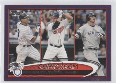2012 Topps Toys R Us Purple #91 - Alex Rodriguez, Jim Thome, Jason Giambi