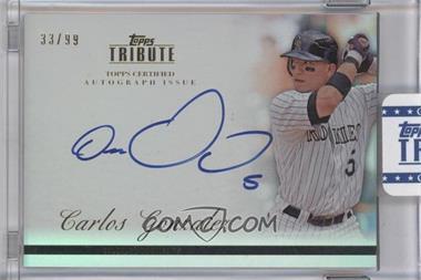 2012 Topps Tribute - Autograph - [Autographed] #TA-CG1 - Carlos Gonzalez /99