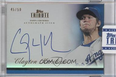 2012 Topps Tribute - Autograph - Blue [Autographed] #TA-CKE1 - Clayton Kershaw /50