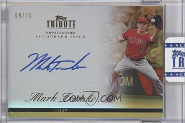 2012 Topps Tribute - Autograph - Gold [Autographed] #TA-MT4 - Mark Trumbo /15