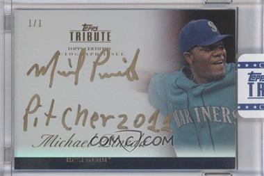 2012 Topps Tribute - Autograph - Onyx Encased Gold Ink [Autographed] #TA-MP3 - Michael Pineda /1