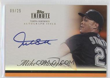 2012 Topps Tribute - Autograph - Orange [Autographed] #TA-MST - Giancarlo Stanton /25