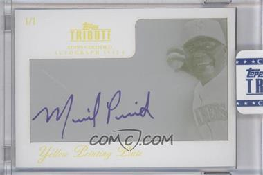 2012 Topps Tribute - Autograph - Printing Plate Yellow Encased [Autographed] #TA-MP1 - Michael Pineda /1