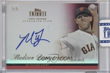 2012 Topps Tribute - Autograph - Red [Autographed] #TA-MB2 - Madison Bumgarner /5
