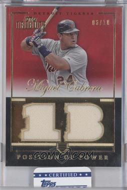 2012 Topps Tribute - Position of Power Relics - Red Encased #PPO-MC - Miguel Cabrera /10