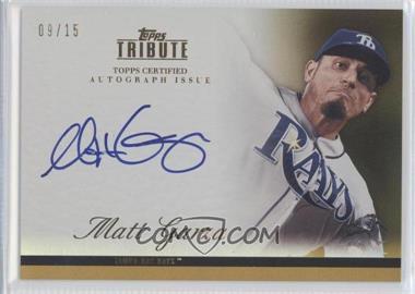 2012 Topps Tribute Autograph Gold [Autographed] #TA-MG2 - Matt Garza /15