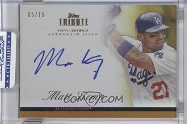 2012 Topps Tribute Autograph Gold [Autographed] #TA-MK1 - Matt Kemp /15