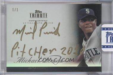 2012 Topps Tribute Autograph Onyx Encased Gold Ink [Autographed] #TA-MP2 - Michael Pineda /1