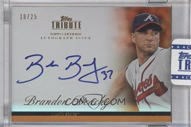 2012 Topps Tribute Autograph Orange [Autographed] #TA-BB2 - Brandon Beachy /25