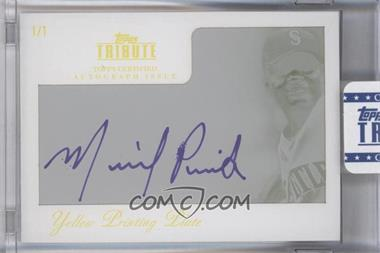 2012 Topps Tribute Autograph Printing Plate Yellow Encased [Autographed] #TA-MP2 - Michael Pineda /1