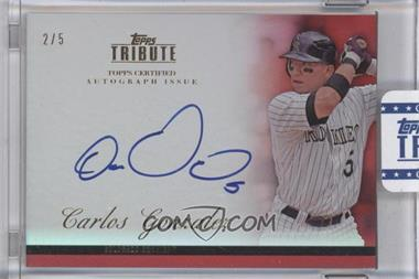 2012 Topps Tribute Autograph Red [Autographed] #TA-CG1 - Carlos Gonzalez /5